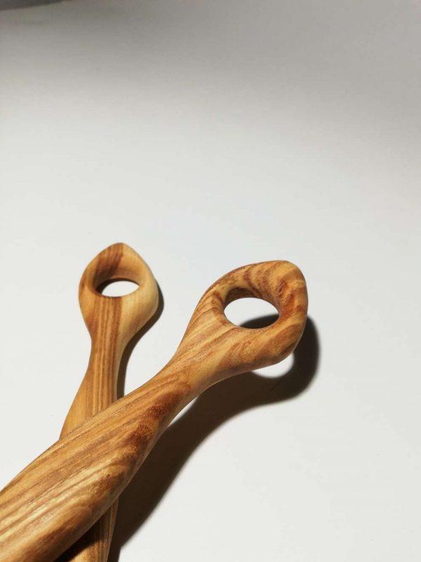 olive ash wooden salad spoons 2