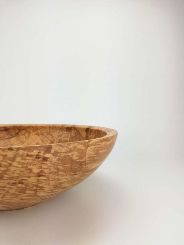 large spalted beech wooden bowl 3