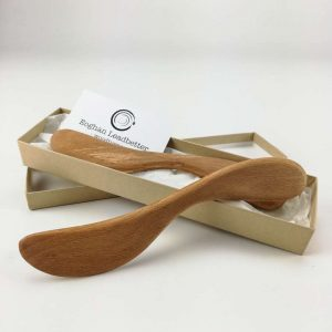 wooden butter knife set