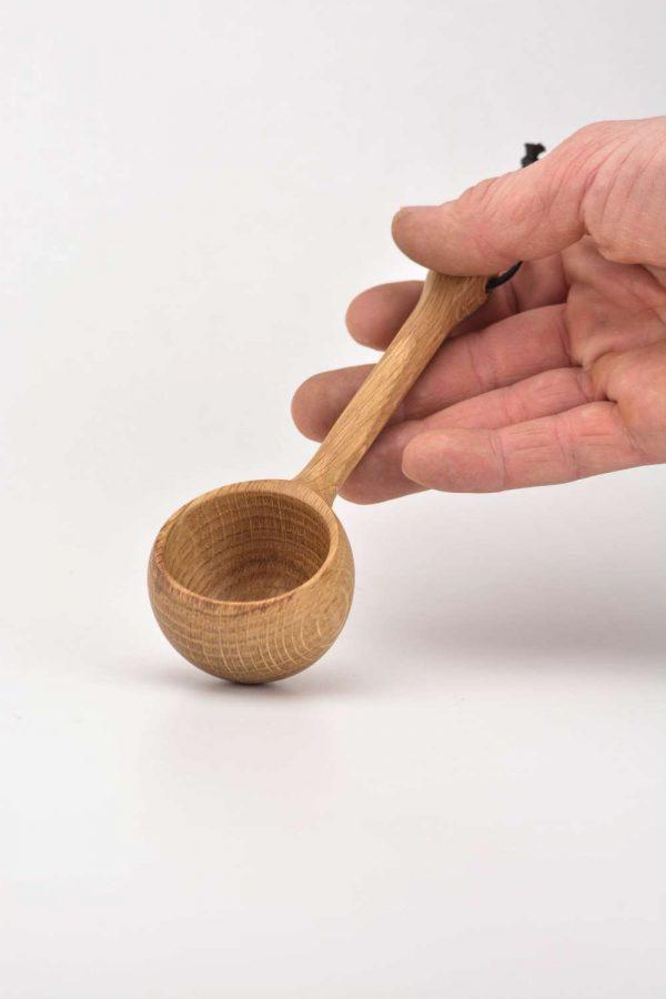 Oak coffee scoop 2