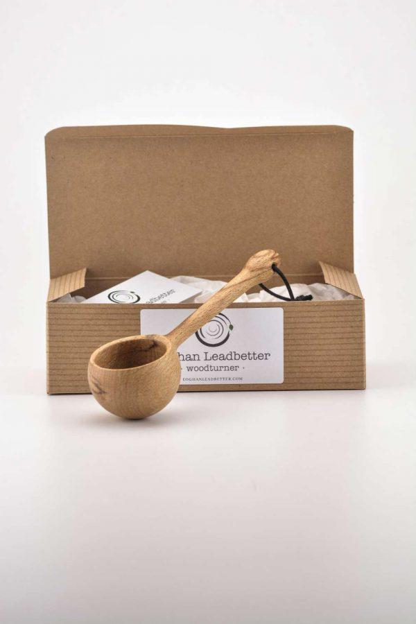 beech coffee scoop box