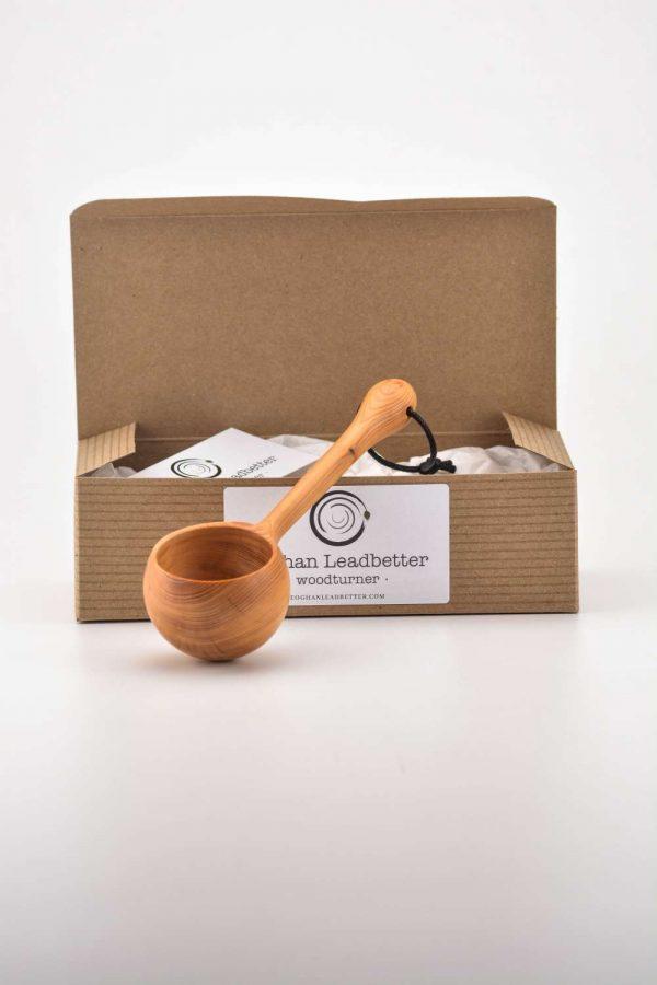 Yew coffee scoop box