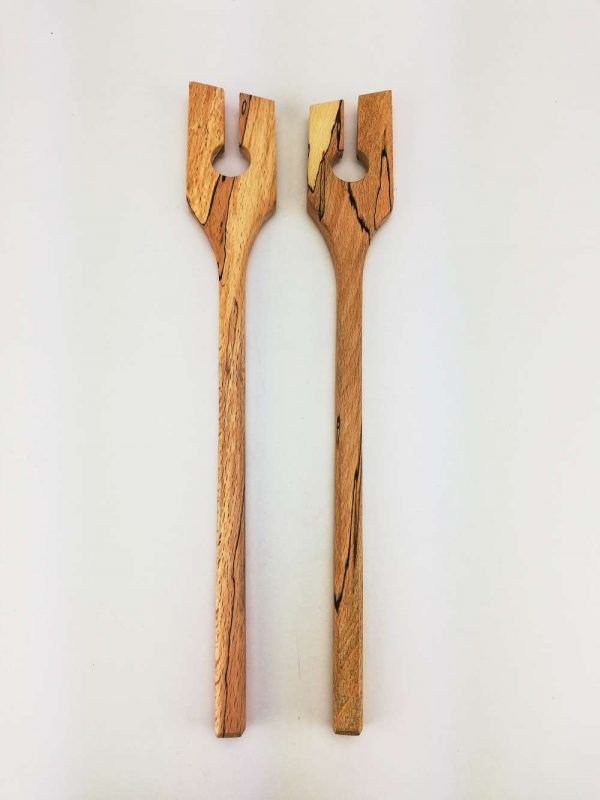 spalted beech salad spoons 4