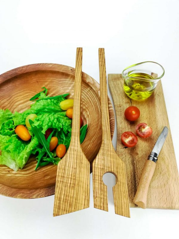 olive ash salad servers