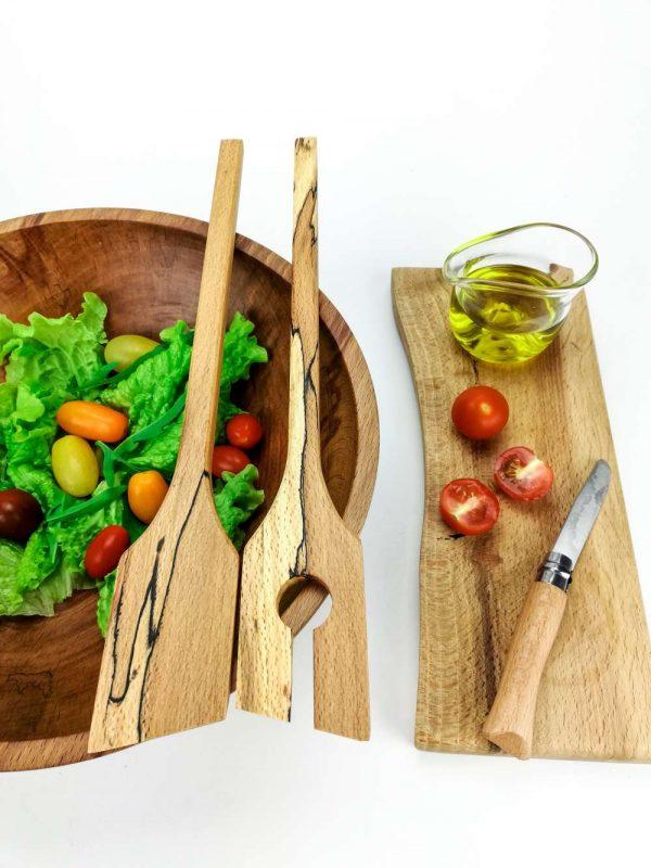 spalted beech salad servers