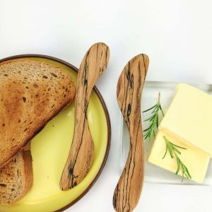 spalted beech butter knife set
