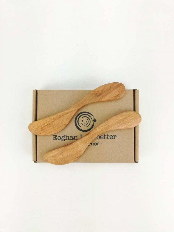wooden butter knife set